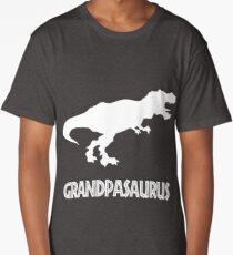 Grandpasaurus Rex - Funny Grandpa Gifts - Father's Day Long T-Shirt