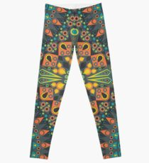 Abstract patterned ethnic ornament Leggings