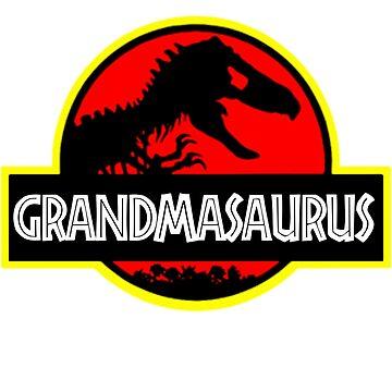 Grandmasaurus - Rex - Funny Grandma T-Shirts by Meli145