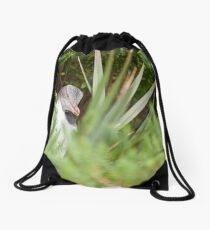 Shy Penguin Drawstring Bag