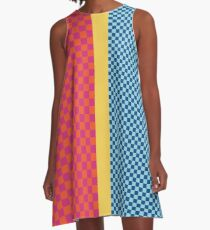 Happy Checkerboard No. 1 A-Line Dress