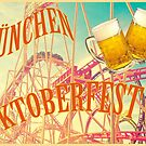 Oktoberfest beer festival in Munich, poster with vintage flair by gameover