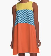 Happy Checkerboard No. 3 A-Line Dress