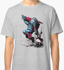 Red Blue retro Biologic shock Classic T-Shirt
