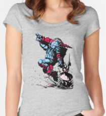 Red Blue Bio shock Women's Fitted Scoop T-Shirt