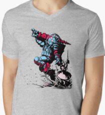 Red Blue retro Biologic shock T-Shirt