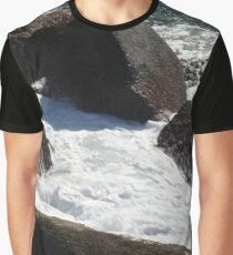 Snow on waves Graphic T-Shirt