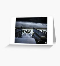 Men of the 16th Infantry Regiment, U.S. 1st Infantry Division wade ashore on Omaha Beach on the morning of 6 June 1944 #DDay Greeting Card