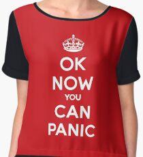 Brexit Panic Keep Calm Parody Women's Chiffon Top