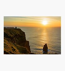 cliffs of moher sunset ireland Photographic Print