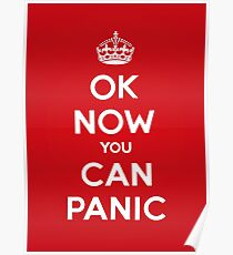 Brexit Panic Keep Calm Parody Poster