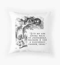 No use going back to yesterday Throw Pillow