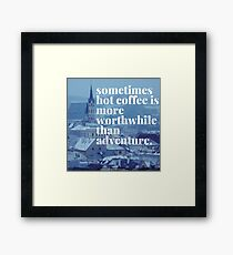 Coffee and travel Framed Print