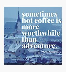 Coffee and travel Photographic Print