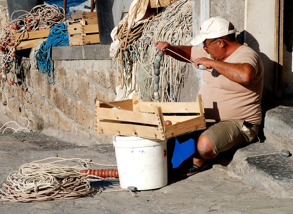 Sorrento Fisherman by simonday