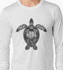 OCEAN OMEGA (MONOCHROME) Long Sleeve T-Shirt