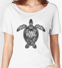 OCEAN OMEGA (MONOCHROME) Women's Relaxed Fit T-Shirt