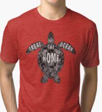 OCEAN OMEGA (MONOCHROME) Tri-blend T-Shirt