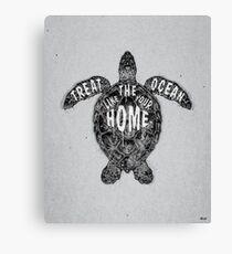 OCEAN OMEGA (MONOCHROME) Canvas Print