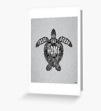 OCEAN OMEGA (MONOCHROME) Greeting Card