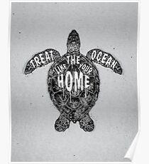 OCEAN OMEGA (MONOCHROME) Poster