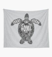 OCEAN OMEGA (MONOCHROME) Wall Tapestry