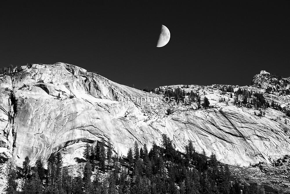 Yosemite Park and Moonlight by cgarphotos