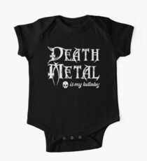 Death Metal is My Lullaby Baby Bodysuit One Piece - Short Sleeve