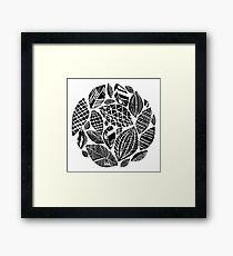 Geometrical nature print / little geometric leaves Framed Print