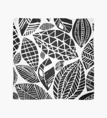 Geometrischer Naturdruck / kleine geometrische Blätter Tuch