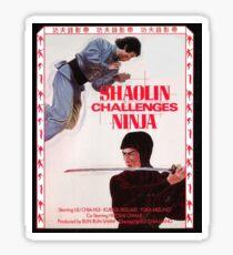 Shaolin Challenges Ninja Sticker