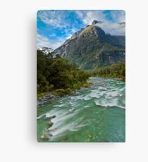 Tutoko River - Fiordland - New Zealand Canvas Print