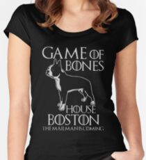 Game of bones house boston the mailman is coming t-shirts Women's Fitted Scoop T-Shirt