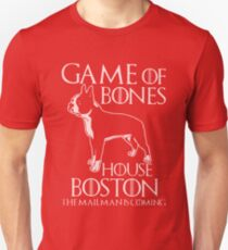 Game of bones house boston the mailman is coming t-shirts Unisex T-Shirt