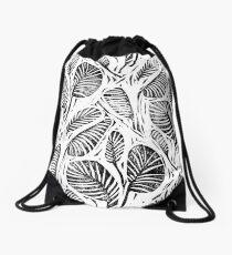Dschungel - tropische Blätter Rucksackbeutel