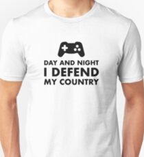 Day And Night I Defend My Country Unisex T-Shirt