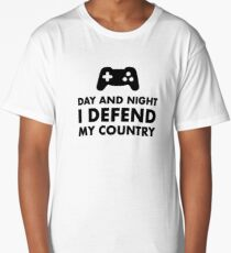 Day And Night I Defend My Country Long T-Shirt