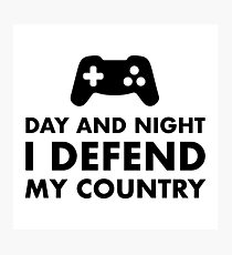 Day And Night I Defend My Country Photographic Print
