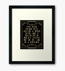 Sobering up in a library Framed Print