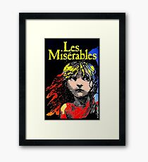 LES MISERABLES: Restored Colorized Advertising Print Framed Print