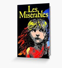 LES MISERABLES: Restored Colorized Advertising Print Greeting Card