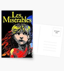LES MISERABLES: Restored Colorized Advertising Print Postcards