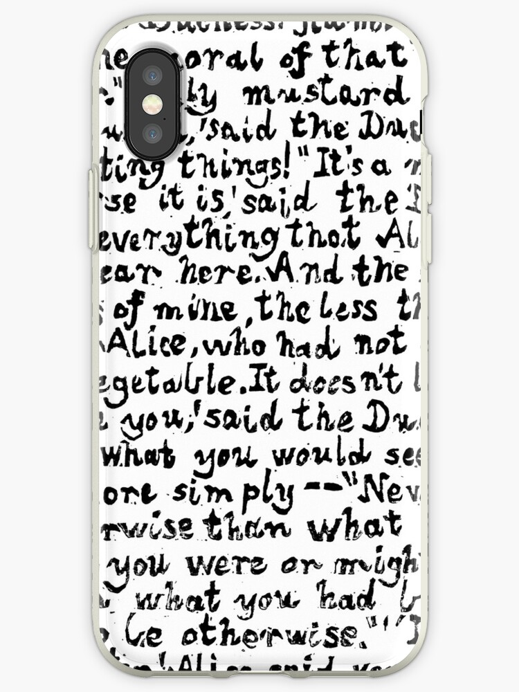 Alice In Wonderland Text Print Lino Cut Printed Text Pattern For