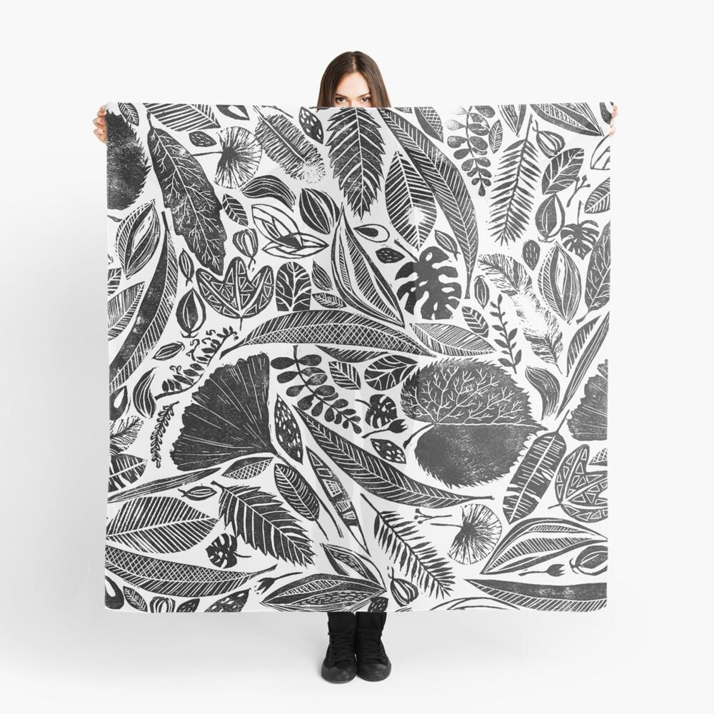Gemischte Blätter, Lino Schnitt gedruckte Natur inspiriert Hand gedruckt Muster Tuch