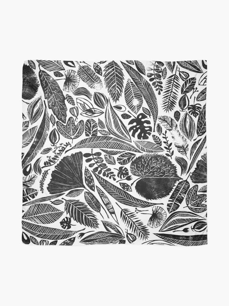 Alternative Ansicht von Gemischte Blätter, Lino Schnitt gedruckte Natur inspiriert Hand gedruckt Muster Tuch