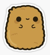 Cute chicken nugget Sticker