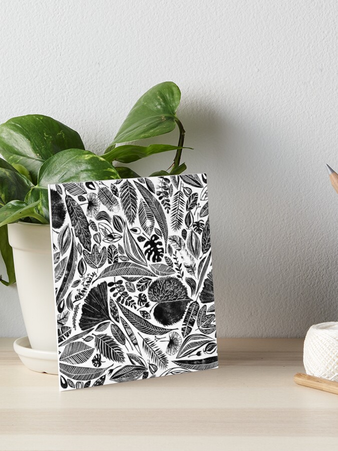 Mixed leaves Lino cut printed nature inspired hand printed pattern iphone 11 case