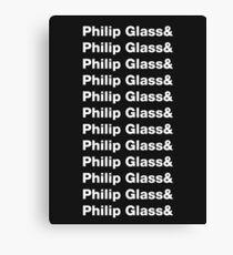 Philip Glass ad nauseum Canvas Print