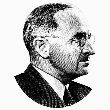 President Harry Truman Profile Portrait by warishellstore
