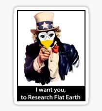 I want you...Flat Earth Sticker